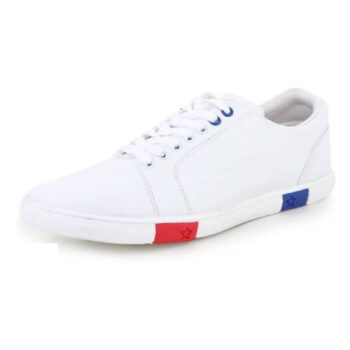 White Synthetic Causal Sneakers Shoes for Men's