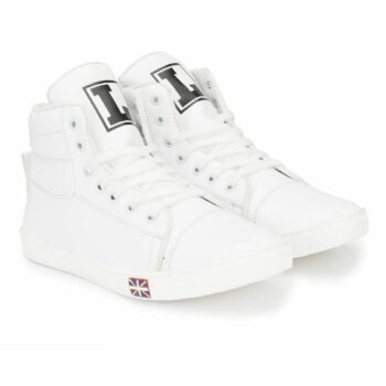 White Synthetic Sneakers Casual Shoes for Men's