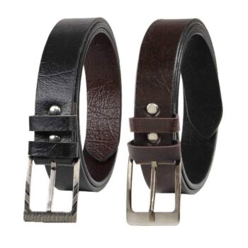 Combo of 2 Artificial Leather Formal Men Belts