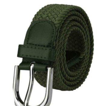 Fancy Green Canvas Casual Belt