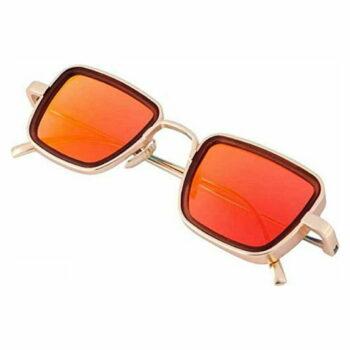 Trendy Orange Metal Square Sunglass