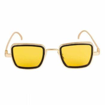 Trendy Yellow Metal Square Sunglass