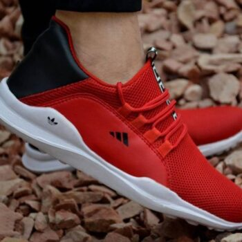 Ultra Lite Red Mesh Casual Sports Shoes