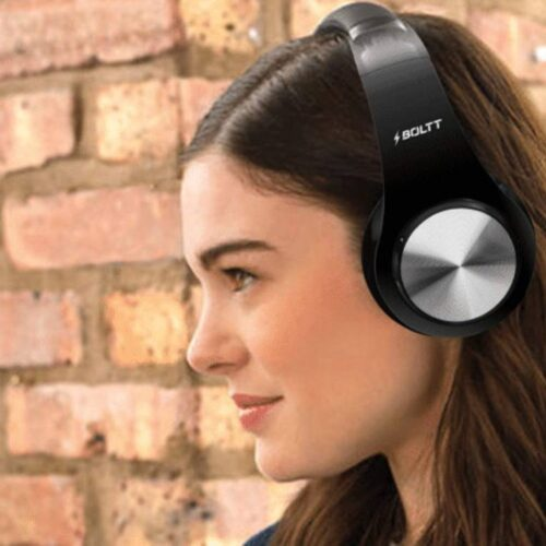 Fire Boltt Blast 1000 Hi Fi Stereo Over Ear Wireless Bluetooth Headphones with Foldable Earmuffs 20 Hours Playtime Built in Mic Black 10
