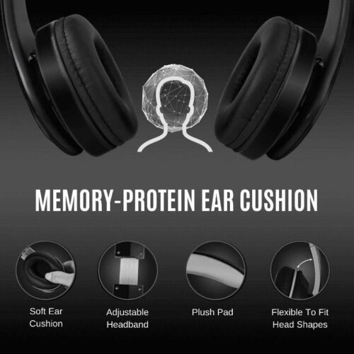 Fire Boltt Blast 1000 Hi Fi Stereo Over Ear Wireless Bluetooth Headphones with Foldable Earmuffs 20 Hours Playtime Built in Mic Black 3