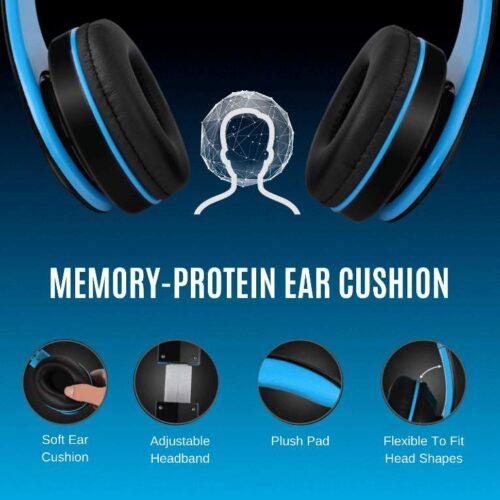Fire Boltt Blast 1000 Hi Fi Stereo Over Ear Wireless Bluetooth Headphones with Foldable Earmuffs On Ear with 20 Hours Playtime Built in Mic Deep Bass Soft Ear Cushions Blue 3