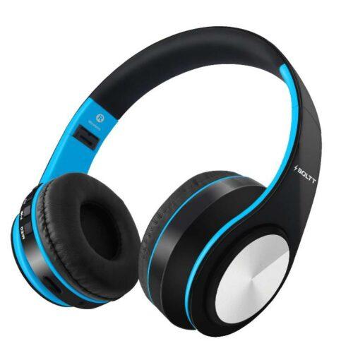 Fire Boltt Blast 1000 Hi Fi Stereo Over Ear Wireless Bluetooth Headphones with Foldable Earmuffs On Ear with 20 Hours Playtime Built in Mic Deep Bass Soft Ear Cushions Blue