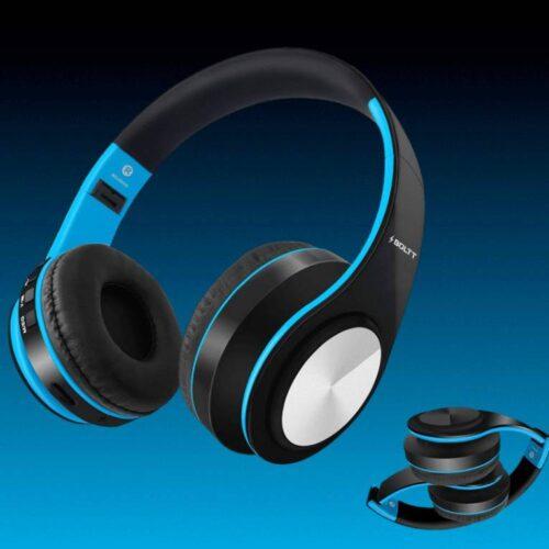 Fire Boltt Blast 1000 Hi Fi Stereo Over Ear Wireless Bluetooth Headphones with Foldable Earmuffs On Ear with 20 Hours Playtime Built in Mic Deep Bass Soft Ear Cushions Blue 7