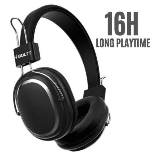 Fire Boltt Blast 1100 On Ear Bluetooth Luxury Headphones Crisp Sound Deep Bass with 16H Playtime 1