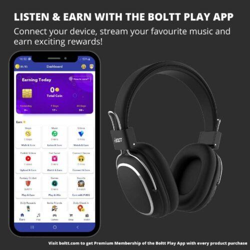 Fire Boltt Blast 1100 On Ear Bluetooth Luxury Headphones Crisp Sound Deep Bass with 16H Playtime 2