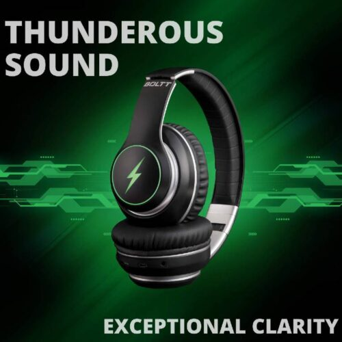 Fire Boltt Blast 1200 On Ear Bluetooth Headphones with Glow Lights 20H Playtime 1000mAh Battery and Shocking Bass and Built in Mic 3