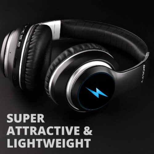 Fire Boltt Blast 1200 On Ear Bluetooth Headphones with Glow Lights 20H Playtime 1000mAh Battery and Shocking Bass and Built in Mic 5