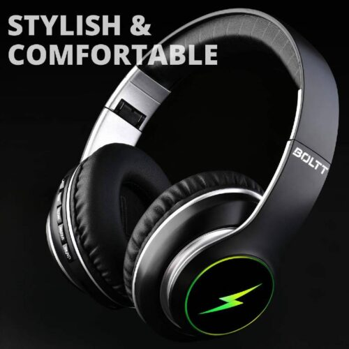 Fire Boltt Blast 1200 On Ear Bluetooth Headphones with Glow Lights 20H Playtime 1000mAh Battery and Shocking Bass and Built in Mic 7