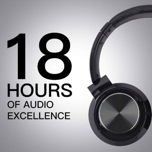 Fire Boltt Blast 1300 On Ear Metal Finish Wireless Bluetooth Over The Ear Headphone 18 Hour Playtime with in Built Mic 40mm Driver with HD Sound Deep Bass Ultra Soft Ear Cushions Black 4