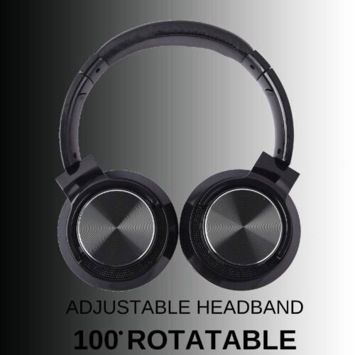 Fire Boltt Blast 1300 On Ear Metal Finish Wireless Bluetooth Over The Ear Headphone 18 Hour Playtime with in Built Mic 40mm Driver with HD Sound Deep Bass Ultra Soft Ear Cushions Black 9