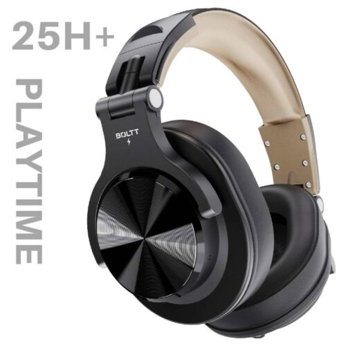 Fire Boltt Blast 1400 Over Ear Bluetooth Wireless Headphones with 25H Playtime Thumping Bass Lightweight Foldable Compact Design with Google Siri Voice Assistance in Built mic 40mm Drivers Beige 1