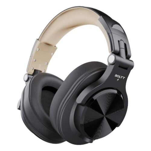Fire Boltt Blast 1400 Over Ear Bluetooth Wireless Headphones with 25H Playtime Thumping Bass Lightweight Foldable Compact Design with Google Siri Voice Assistance in Built mic 40mm Drivers Beige