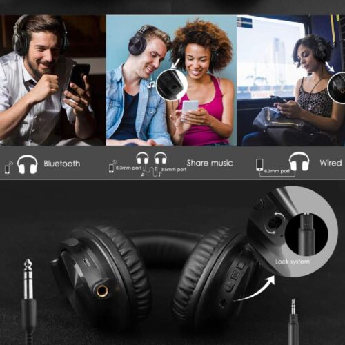 Fire Boltt Blast 1400 Over Ear Bluetooth Wireless Headphones with 25H Playtime Thumping Bass Lightweight Foldable Compact Design with Google Siri Voice Assistance in Built mic 40mm Drivers Red 5