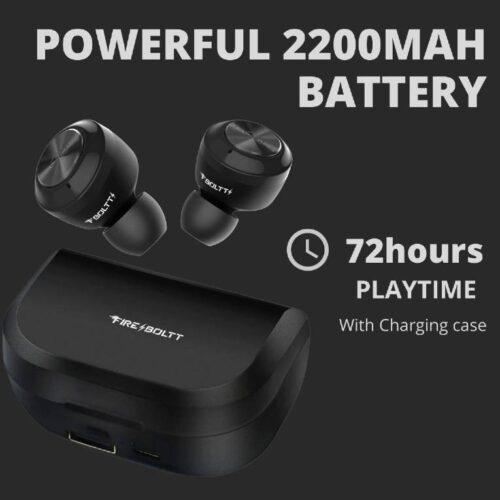 Fire Boltt Buds BE1000 True Wirless Earbuds72 Hours Playtime2200 MAH Battery BT5 1