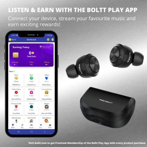 Fire Boltt Buds BE1000 True Wirless Earbuds72 Hours Playtime2200 MAH Battery BT5 2