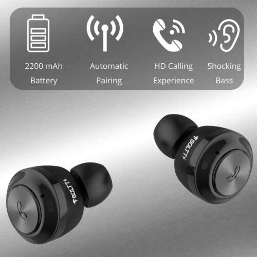 Fire Boltt Buds BE1000 True Wirless Earbuds72 Hours Playtime2200 MAH Battery BT5 4