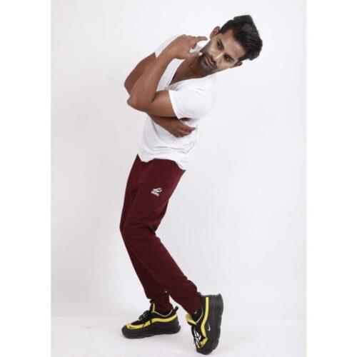 Ishu Men Maroon Casual Wear Track Pants 3