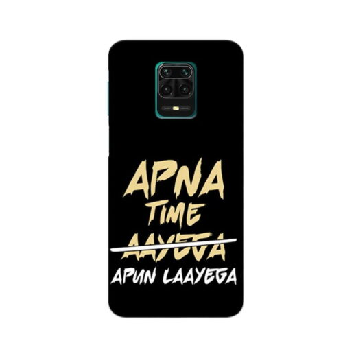 Redmi Note 9 Pro Back Cover Aapna Time Ayega 1