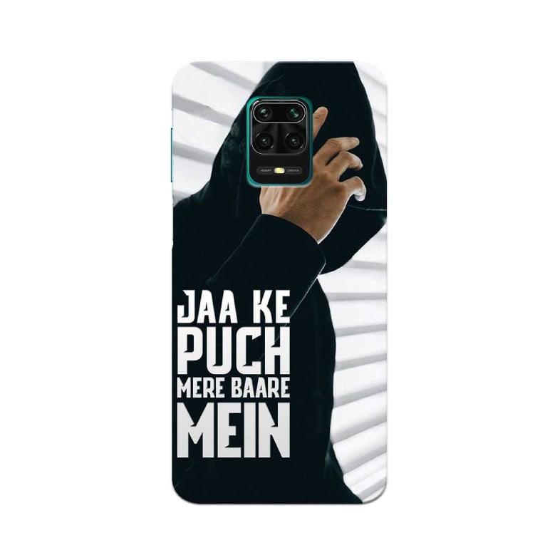 Redmi Note 9 Pro Back Cover Ja Ke Puch