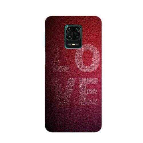 Redmi Note 9 Pro Back Cover Love