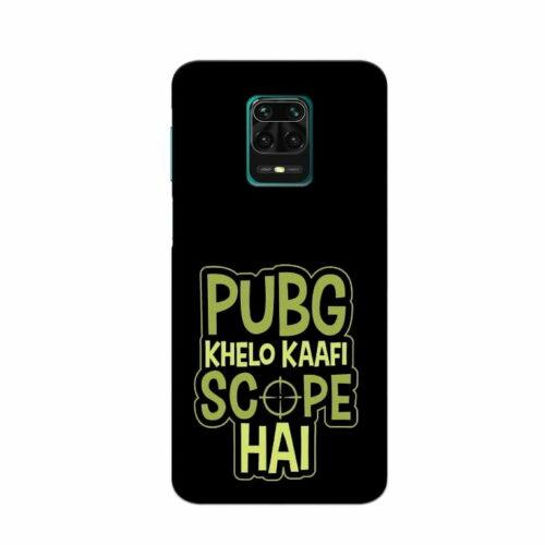 Redmi Note 9 Pro Back Cover Pubg Khelo