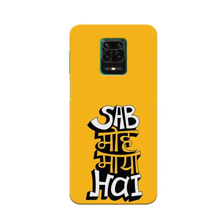 Redmi Note 9 Pro Back Cover Sab Moh Maya Hai