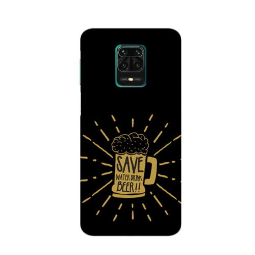 Redmi Note 9 Pro Back Cover Save Beer