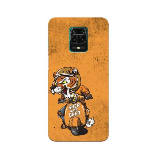 Redmi Note 9 Pro Back Cover Sher Aya Sher 1