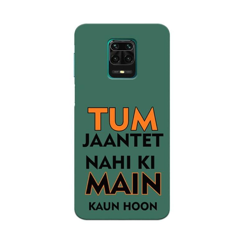 Redmi Note 9 Pro Back Cover Tum Jante Nahi