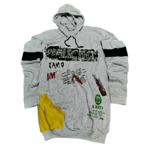 Trendy Men Cotton Grey Hood Tshirts