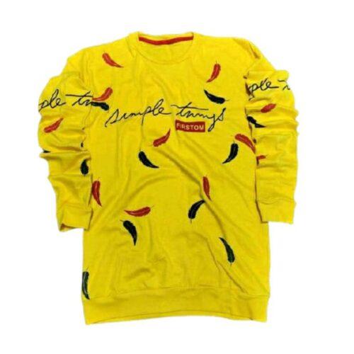 Tshirt Men Yellow Gold Rush