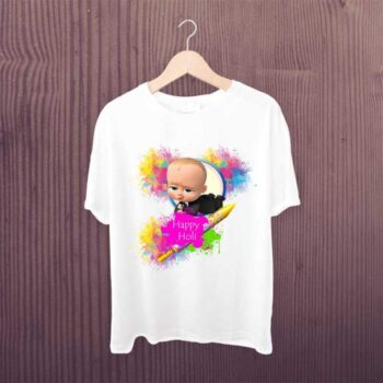 Baby Boss Happy Holi Tshirt