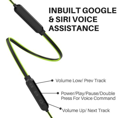 Boltt Fire Boltt Echo 1100 Neckband in Ear Bluetooth 5 0 Earphone Hearable with Incredible Sound Google Siri Assistance Adjustable Neckband Magnetic Earbuds Green 3