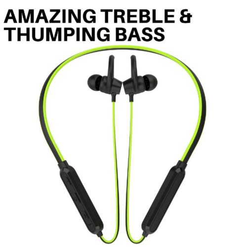 Boltt Fire Boltt Echo 1100 Neckband in Ear Bluetooth 5 0 Earphone Hearable with Incredible Sound Google Siri Assistance Adjustable Neckband Magnetic Earbuds Green 7