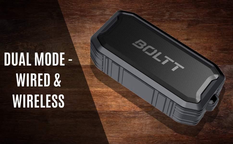 Boltt Fire Boltt Xplode 1500 Portable Bluetooth Outdoor Speaker IPX7 Waterproof Weatherproof with Enhanced Bass Black 1