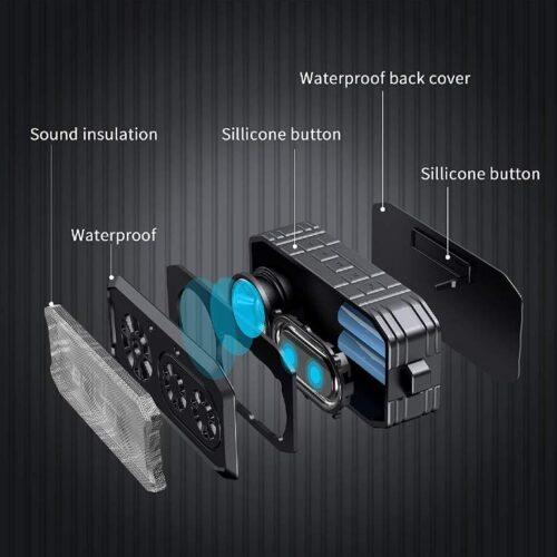 Boltt Fire Boltt Xplode 1500 Portable Bluetooth Outdoor Speaker IPX7 Waterproof Weatherproof with Enhanced Bass Black 12