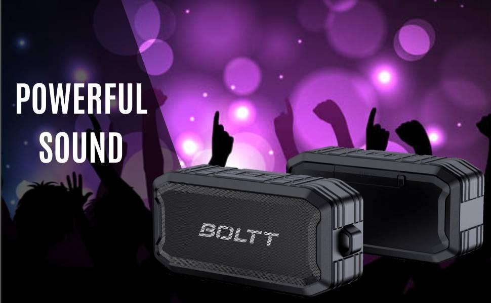 Boltt Fire Boltt Xplode 1500 Portable Bluetooth Outdoor Speaker IPX7 Waterproof Weatherproof with Enhanced Bass Black 3