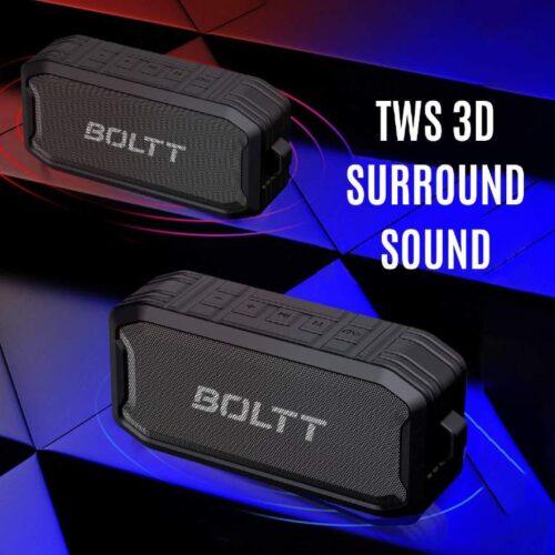 Boltt Fire Boltt Xplode 1500 Portable Bluetooth Outdoor Speaker IPX7 Waterproof Weatherproof with Enhanced Bass Black 7