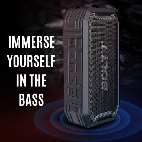 Boltt Fire Boltt Xplode 1500 Portable Bluetooth Outdoor Speaker IPX7 Waterproof Weatherproof with Enhanced Bass Black 9