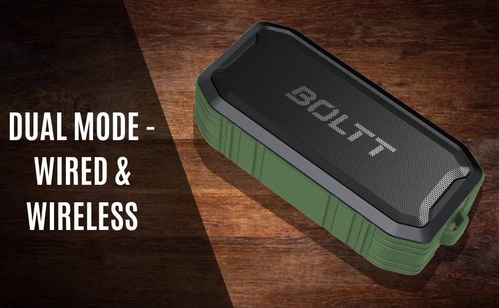 Boltt Fire Boltt Xplode 1500 Portable Bluetooth Outdoor Speaker IPX7 Waterproof Weatherproof with Enhanced Bass Green 1