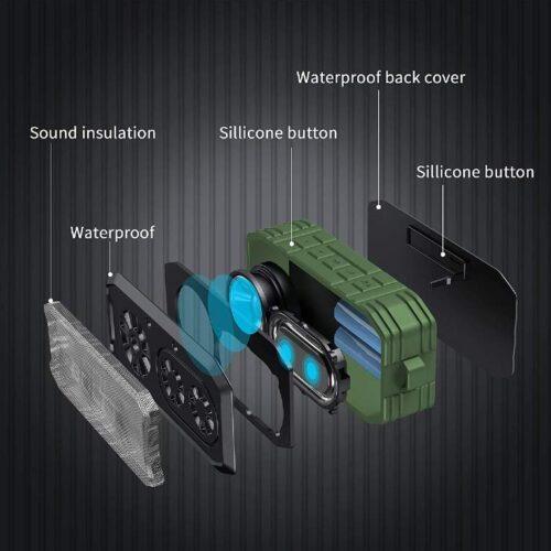 Boltt Fire Boltt Xplode 1500 Portable Bluetooth Outdoor Speaker IPX7 Waterproof Weatherproof with Enhanced Bass Green 11