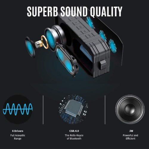 Boltt Fire Boltt Xplode 1500 Portable Bluetooth Outdoor Speaker IPX7 Waterproof Weatherproof with Enhanced Bass Green 13