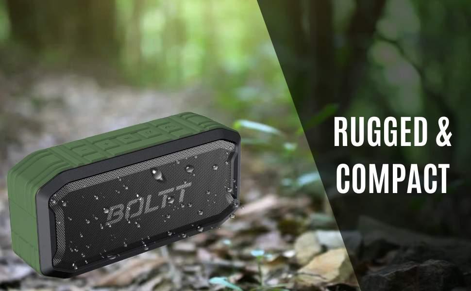 Boltt Fire Boltt Xplode 1500 Portable Bluetooth Outdoor Speaker IPX7 Waterproof Weatherproof with Enhanced Bass Green 3