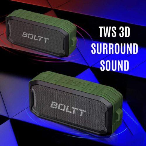 Boltt Fire Boltt Xplode 1500 Portable Bluetooth Outdoor Speaker IPX7 Waterproof Weatherproof with Enhanced Bass Green 7