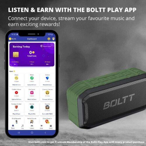 Boltt Fire Boltt Xplode 1500 Portable Bluetooth Outdoor Speaker IPX7 Waterproof Weatherproof with Enhanced Bass Green 8